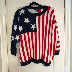Forever 21 size M oversized flag sweater
